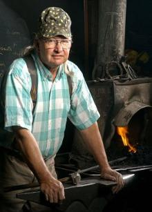 Frank Turley, Blacksmith photo by